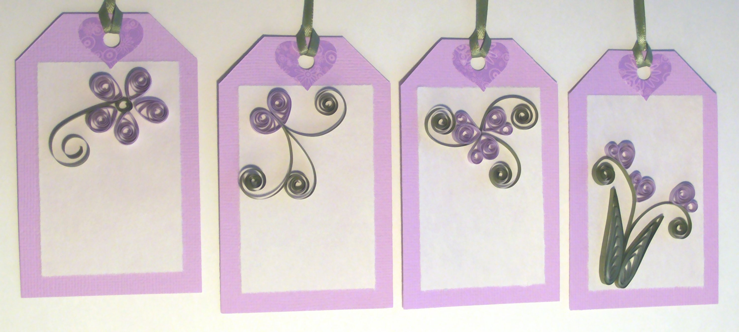 Quilled Gift Tags Paper Quilling And Other Crafts