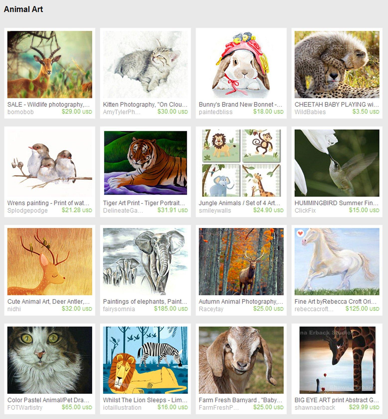 Animal art treasury list – celebrate animals