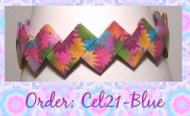 Origami Bracelet - Cel21 Blue