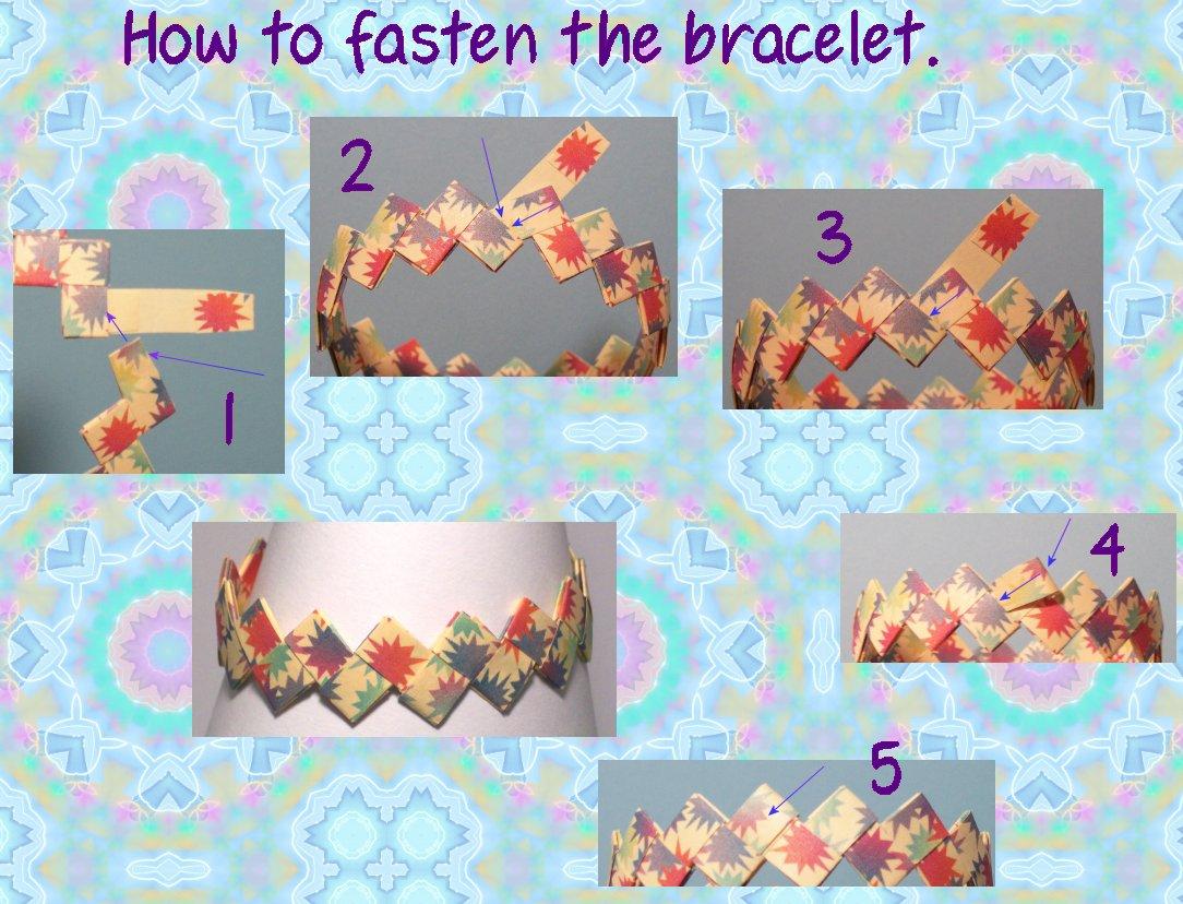 Origami Bracelet With Fastener
